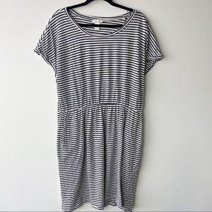 H&M striped short sleeve dress